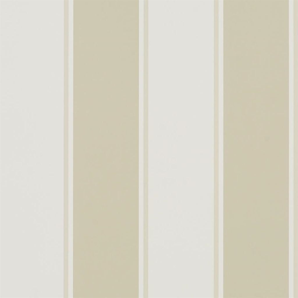 Mapleton Stripe - Stone Wallpaper
