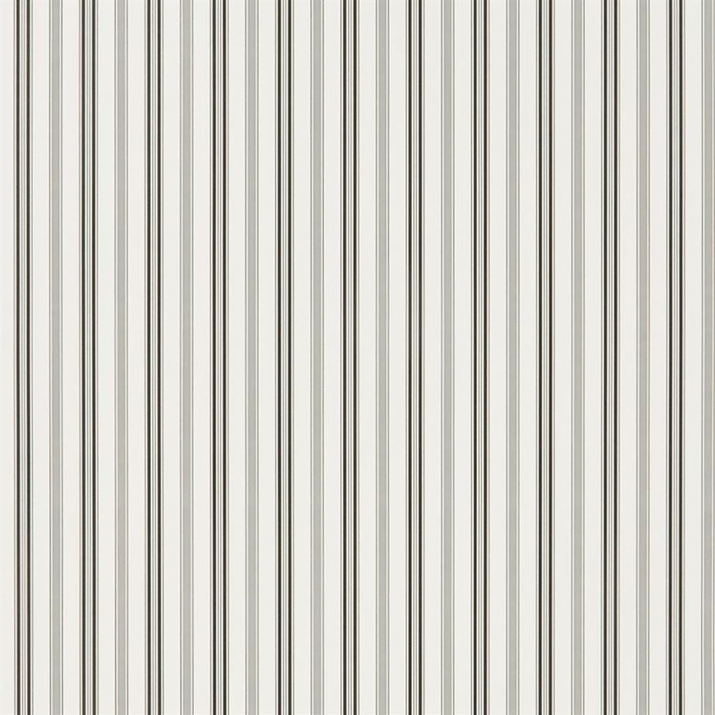 Basil Stripe - Black Wallpaper