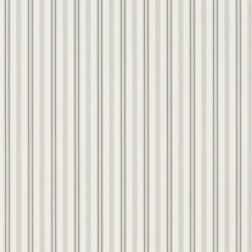 Basil Stripe - Grey Wallpaper