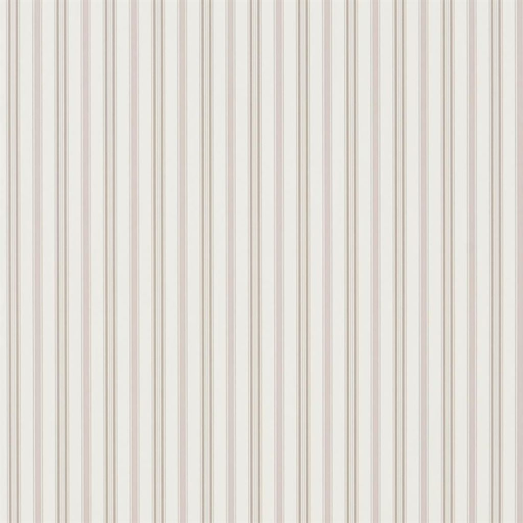 Basil Stripe - Mauveine Wallpaper
