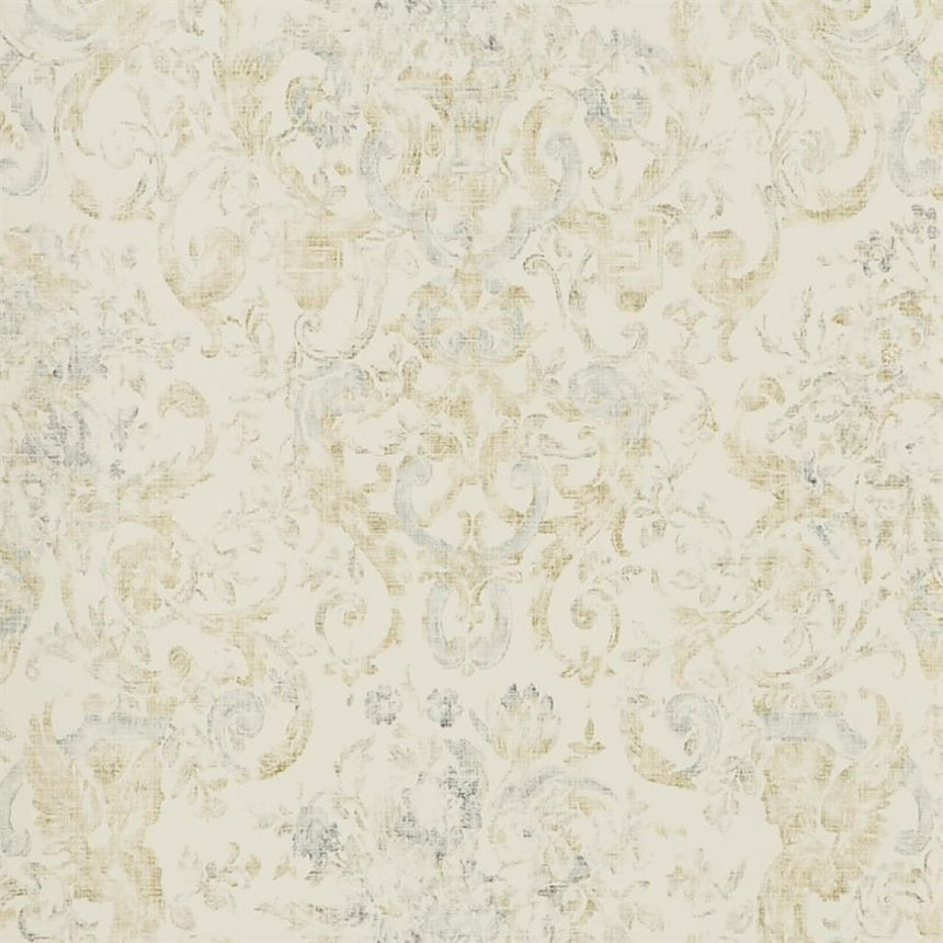 Old Hall Floral - Slate Wallpaper