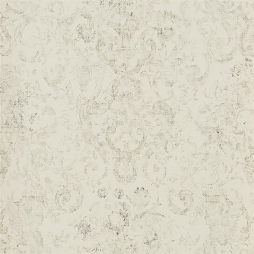 Old Hall Floral - Graphite Wallpaper