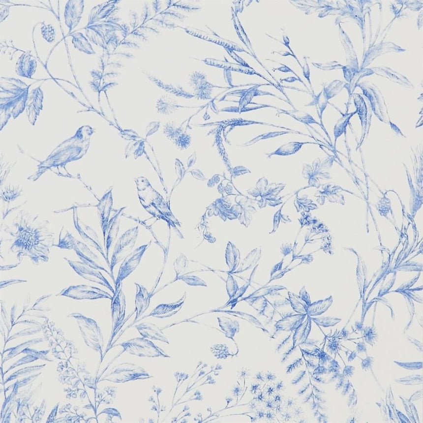 Fern Toile - Bluebell Wallpaper
