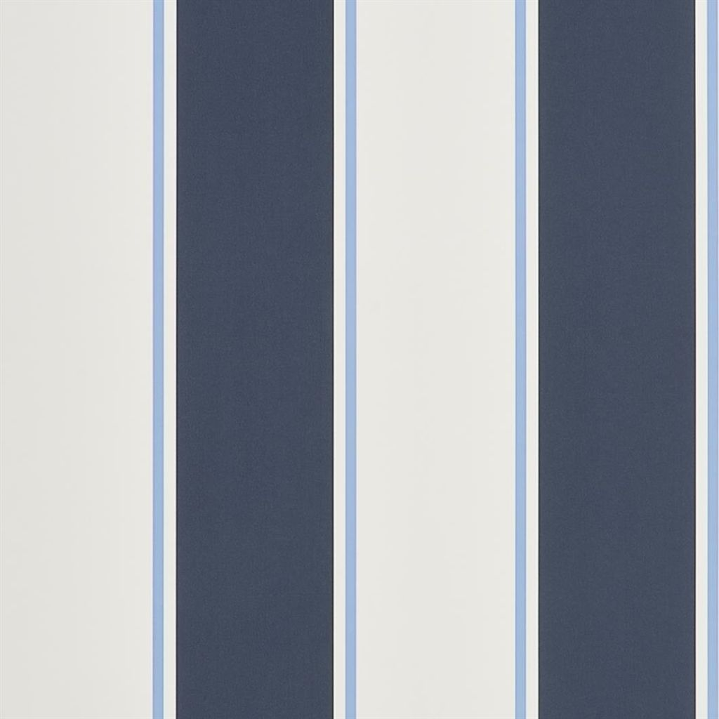 Mapleton Stripe - Midnight Wallpaper