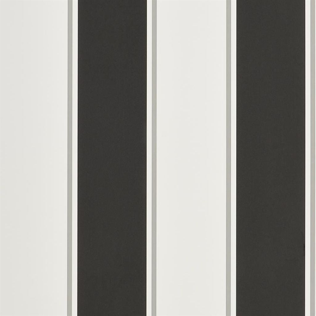 Mapleton Stripe - Carbon Wallpaper
