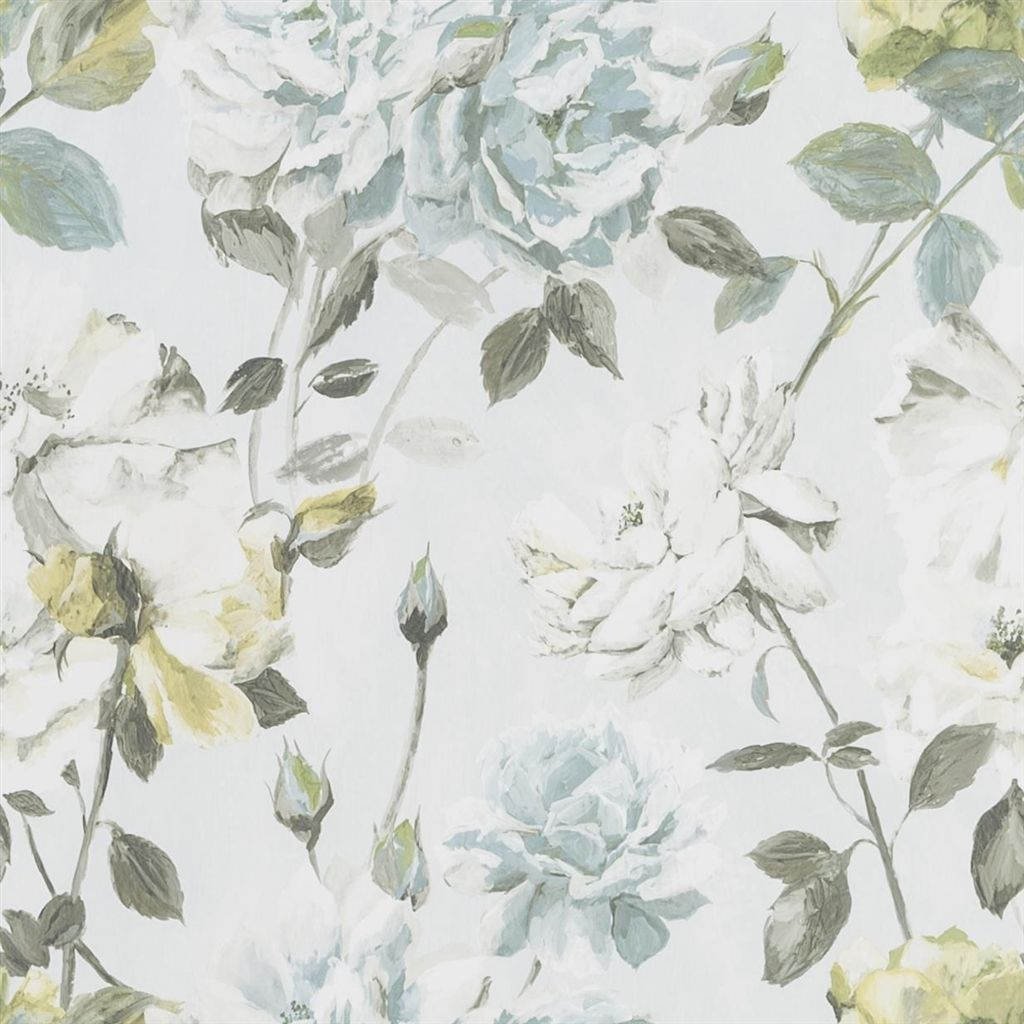 Couture Rose - Duck Egg Wallpaper