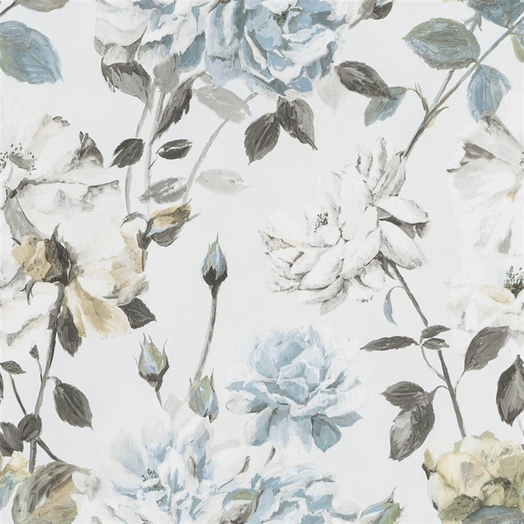 Couture Rose - Graphite Wallpaper