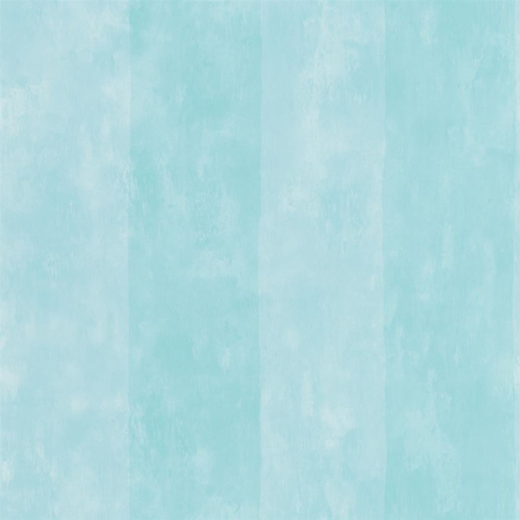 Parchment Stripe - Aqua Wallpaper