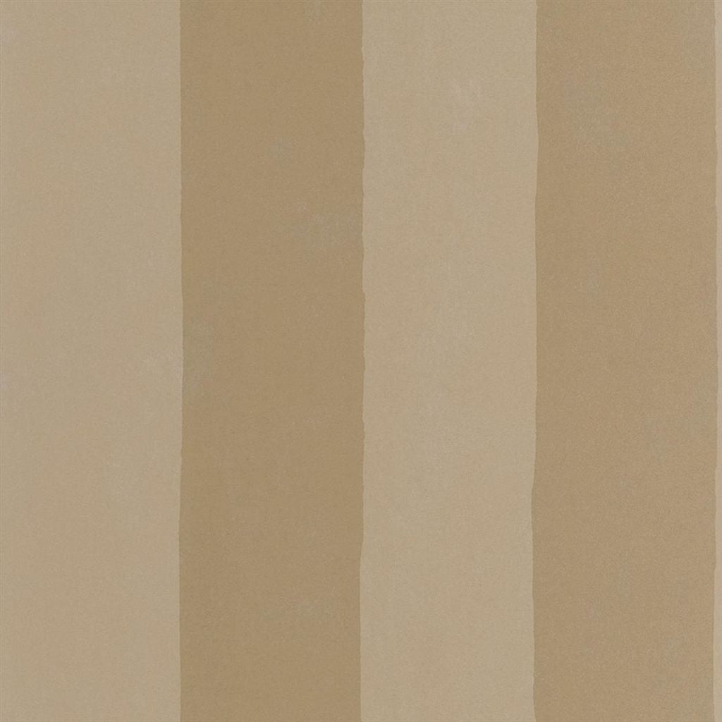 Parchment Stripe - Burnished Gold Wallpaper
