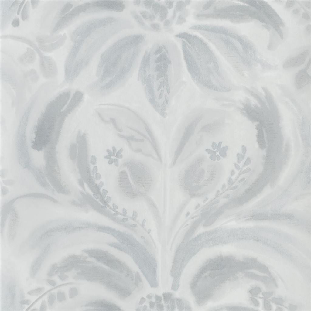 Angelique Damask Graphite Wallpaper