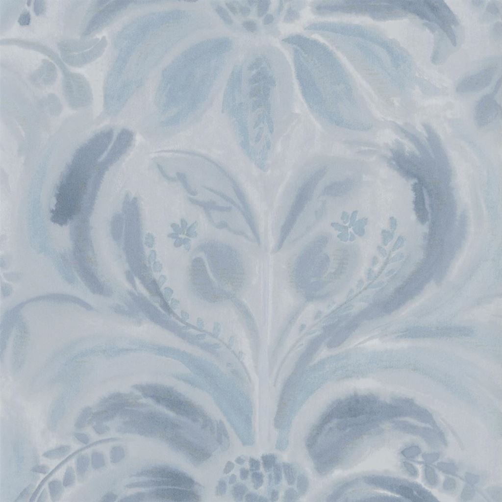 Angelique Damask Indigo Wallpaper