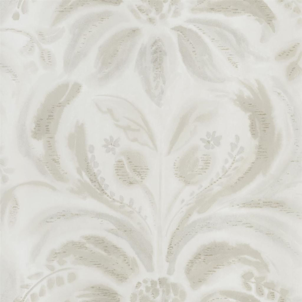 Angelique Damask Linen Wallpaper