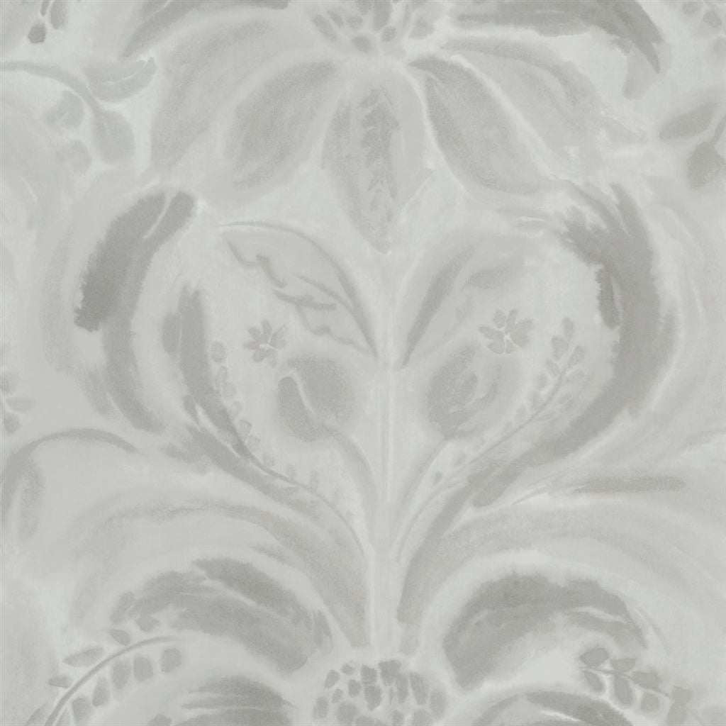 Angelique Damask Stone Wallpaper