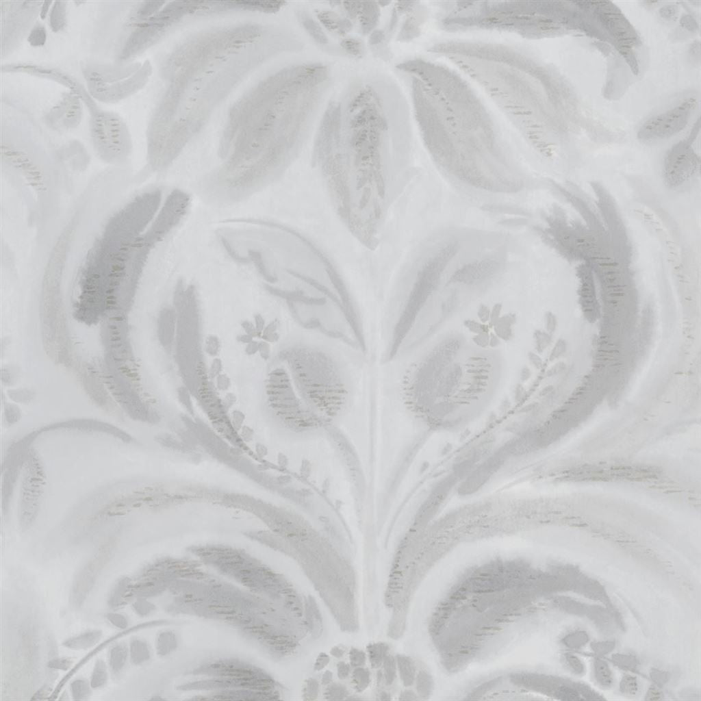 Angelique Damask Steel Wallpaper
