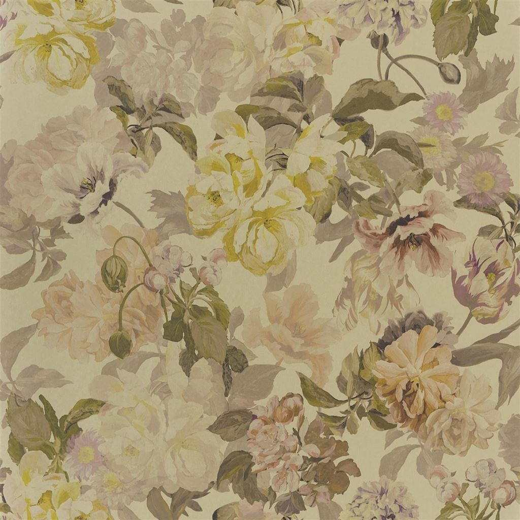 Delft Flower Gold Wallpaper