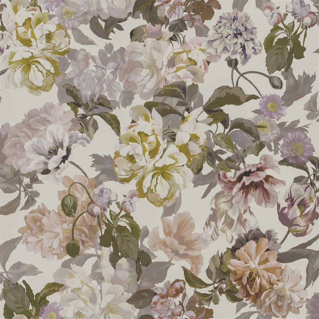 Delft Flower Linen Wallpaper