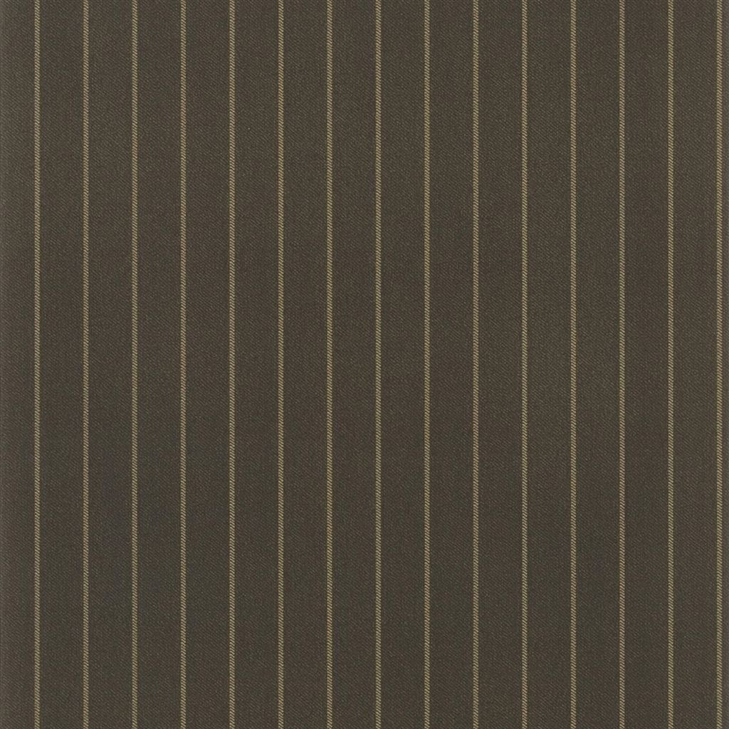 Langford Chalk Stripe Chocolate Wallpaper
