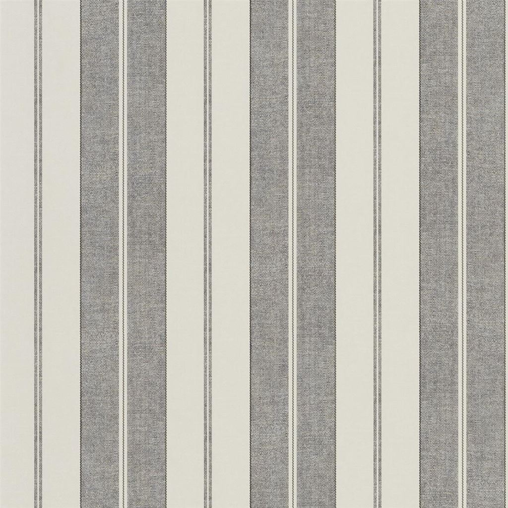 Monteagle Stripe Slate Wallpaper