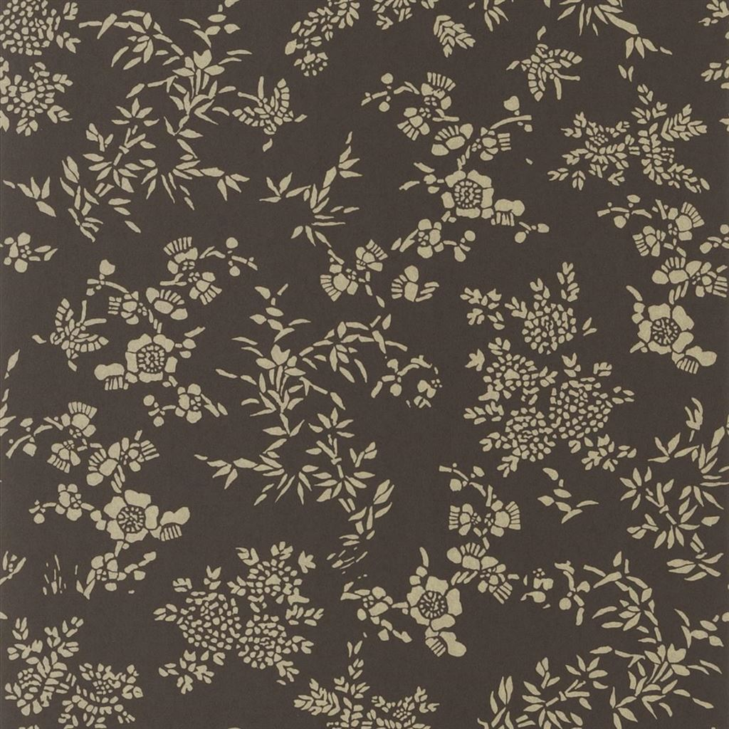 Teabowl Calico Chocolate Wallpaper
