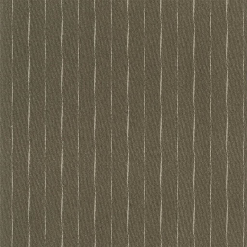 Langford Chalk Stripe Khaki Wallpaper