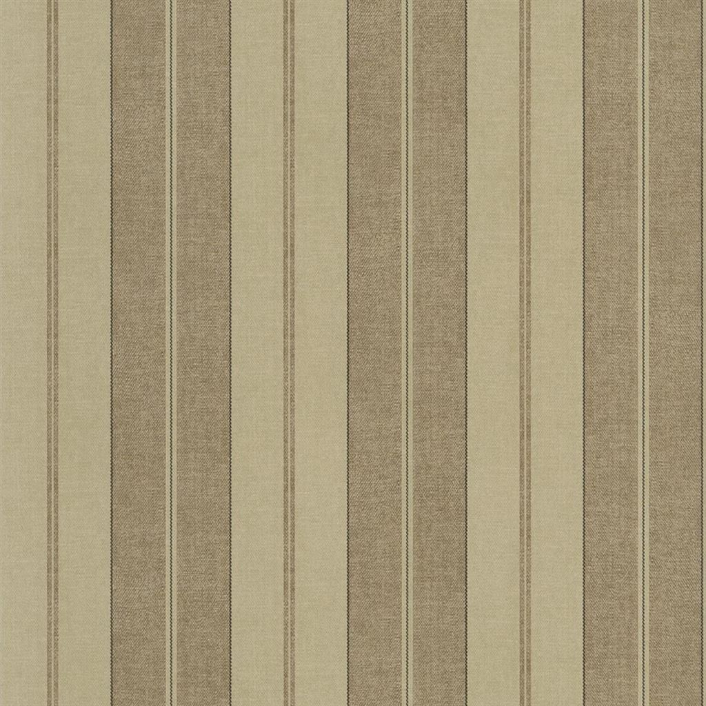 Monteagle Stripe Tobacco Wallpaper