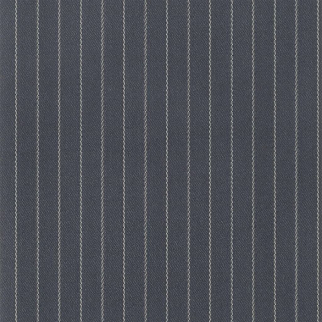 Langford Chalk Stripe Navy Wallpaper
