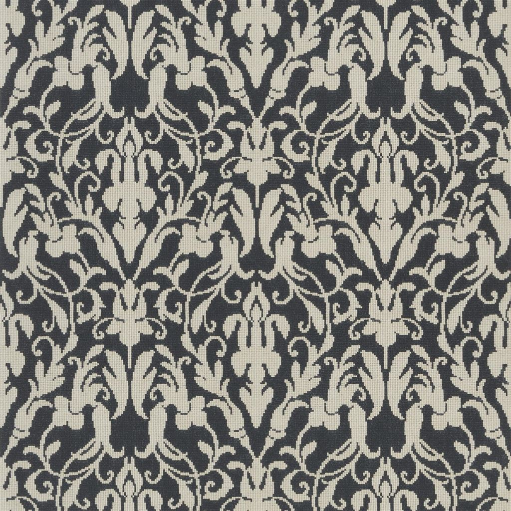 Speakeasy Damask Black Wallpaper