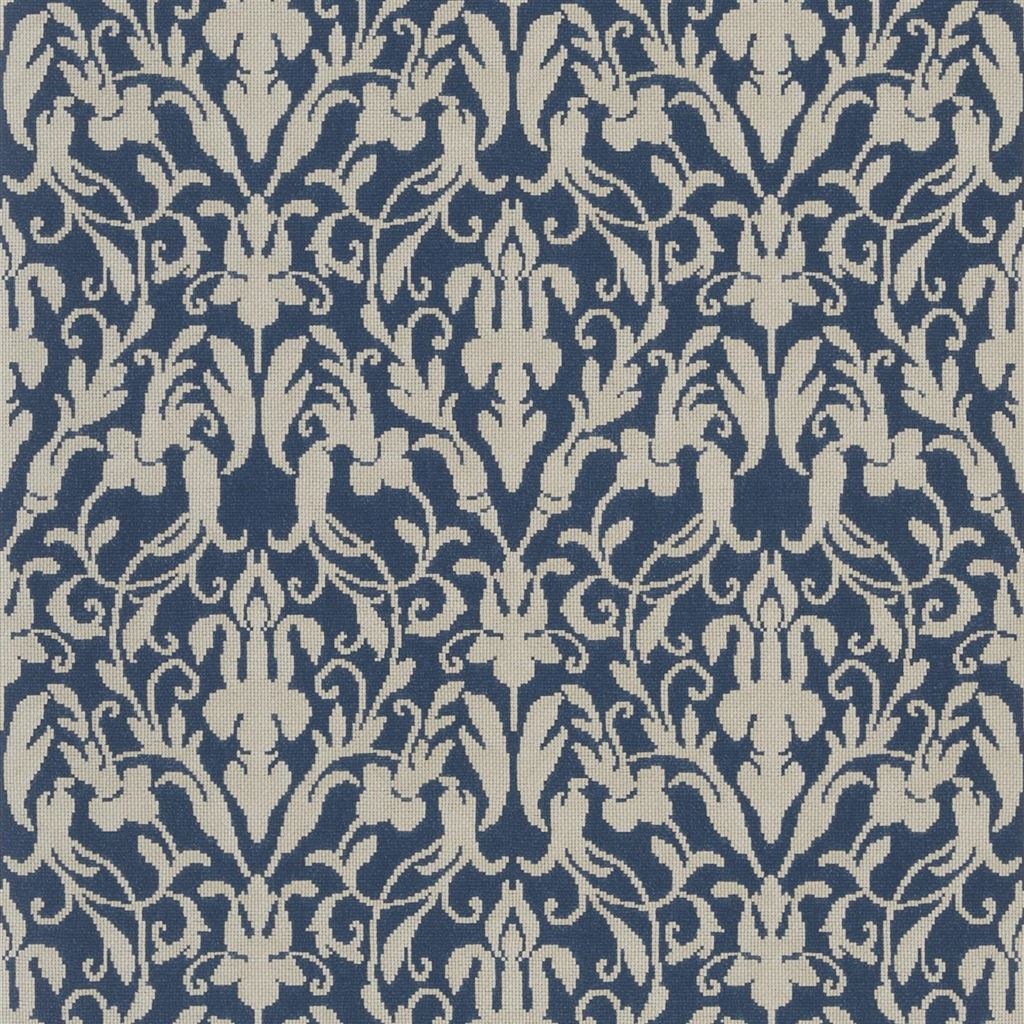 Speakeasy Damask Indigo Wallpaper