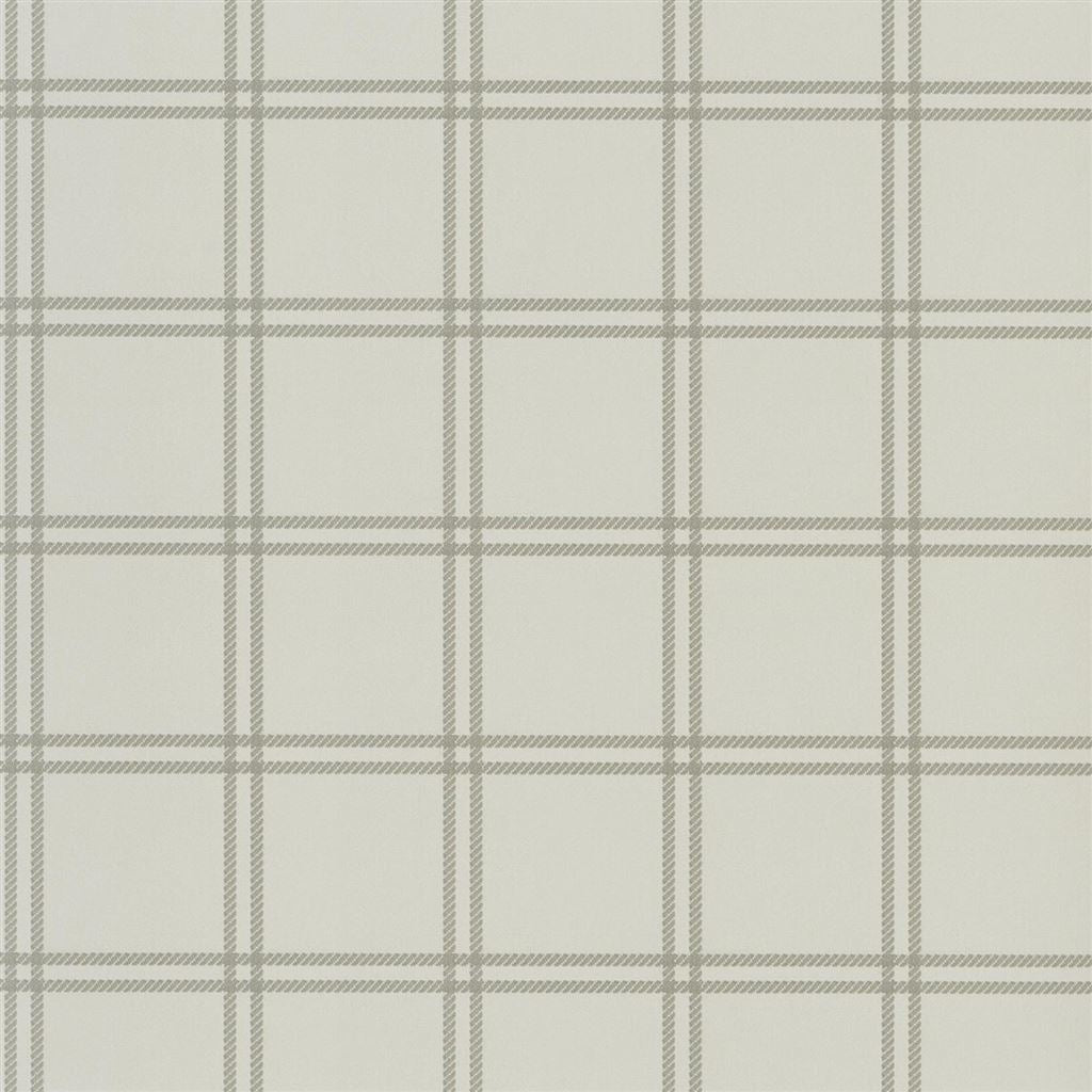 Shipley Windowpane Stone Wallpaper