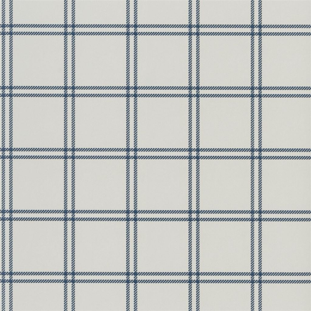 Shipley Windowpane Indigo Wallpaper