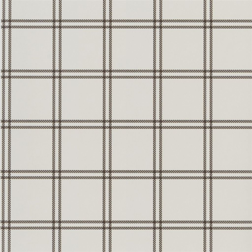 Shipley Windowpane Chocolate Wallpaper