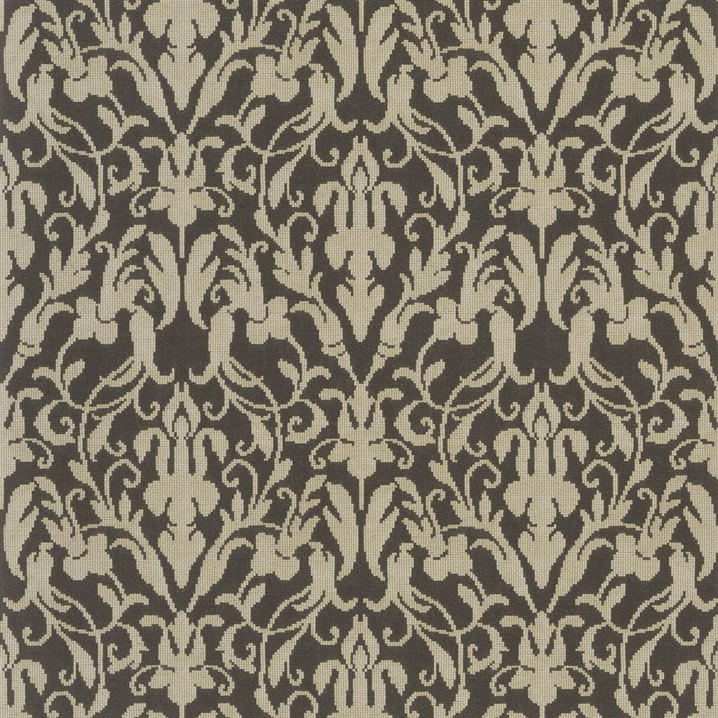 Speakeasy Damask Tobacco Wallpaper