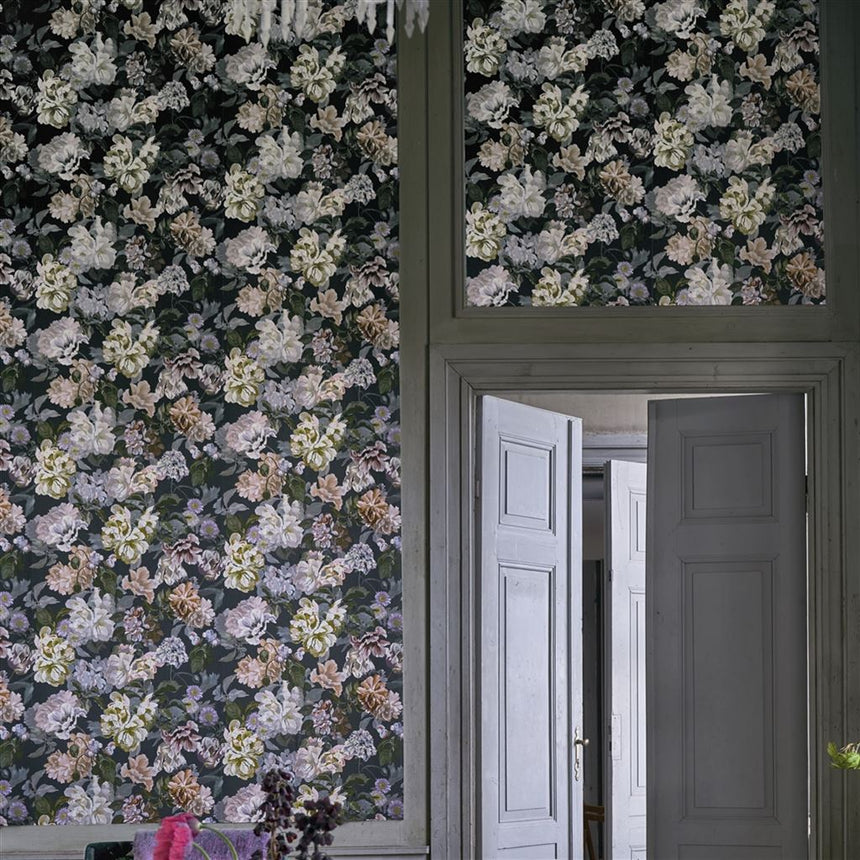 Designers Guild Delft Flower Charcoal Wallpaper