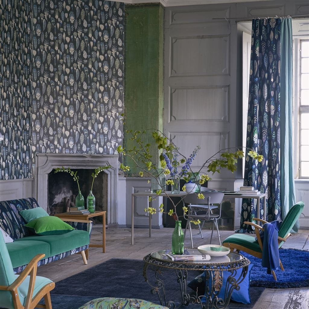 Designers Guild Quill Duck Egg Wallpaper