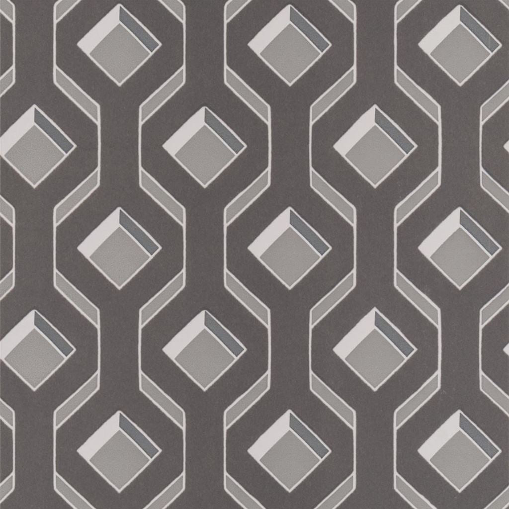 Chareau Zinc Wallpaper