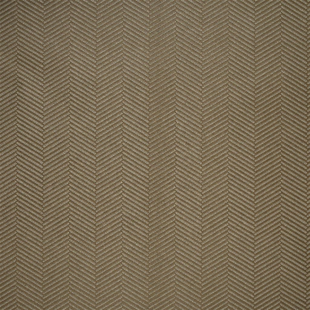 Swingtime Herringbone Bronze Wallpaper