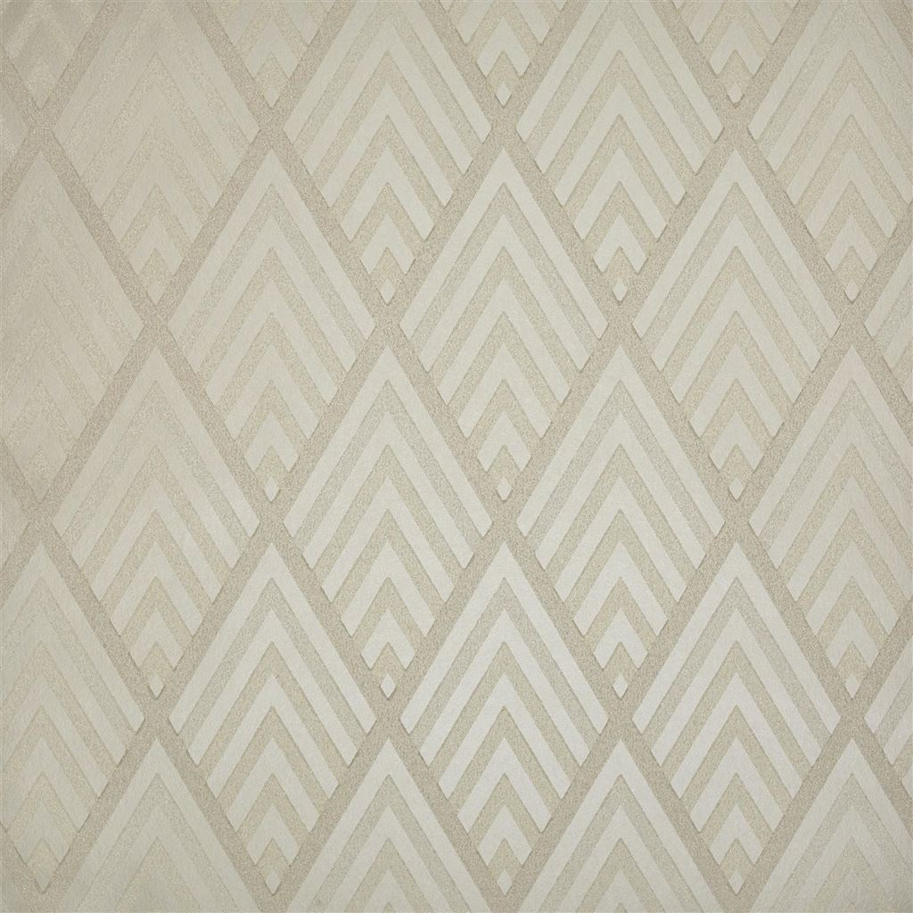 Jazz Age Geometric Cream Wallpaper