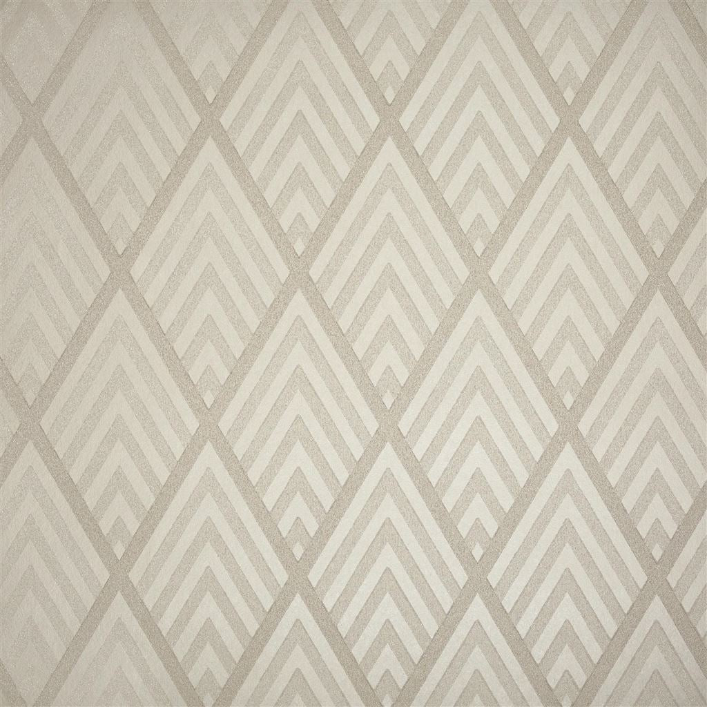 Jazz Age Geometric Pearl Grey Wallpaper