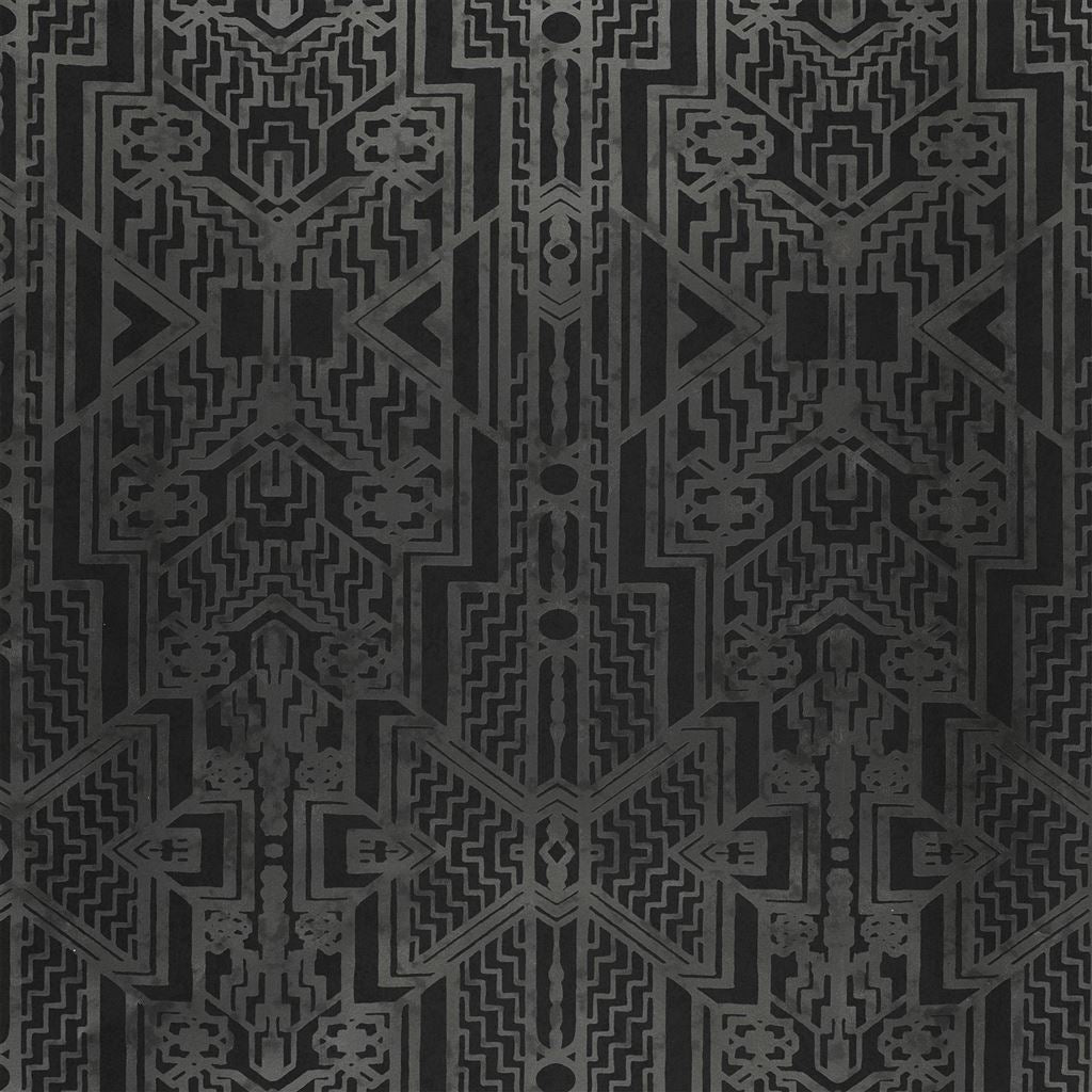 Brandt Geometric Charcoal Wallpaper