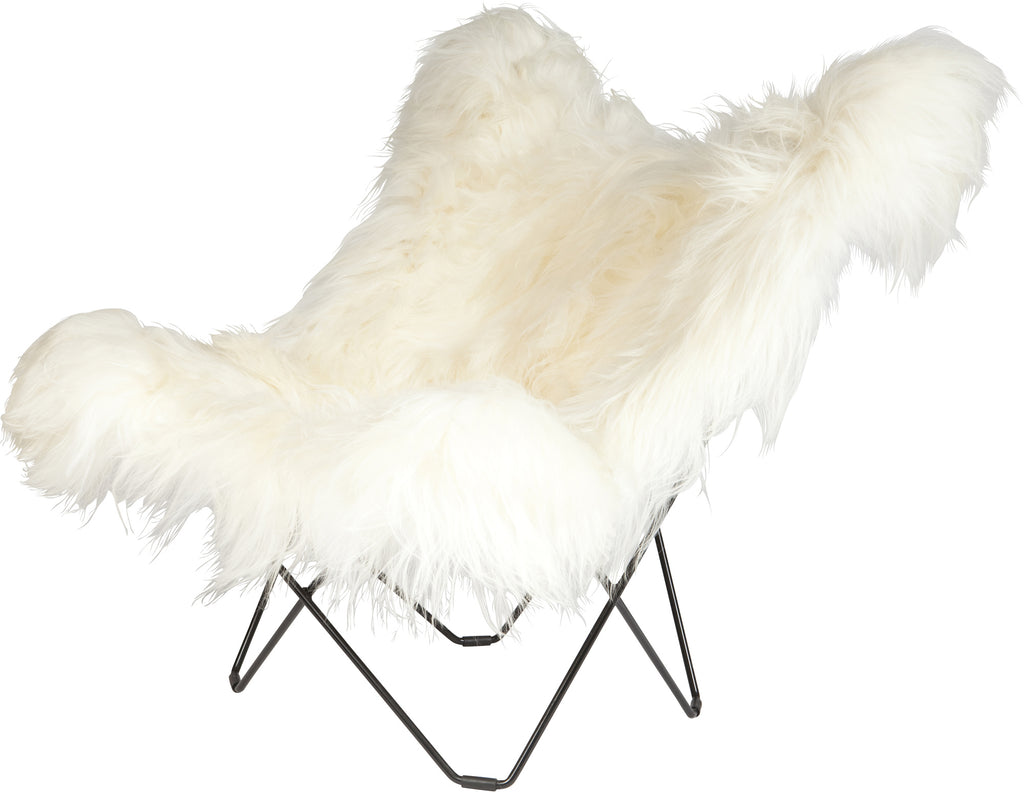 Iceland Mariposa Wild White Chair with Black Frame