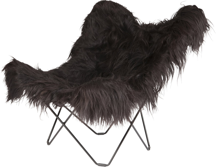 Iceland Mariposa Wild Black Chair with Black Frame