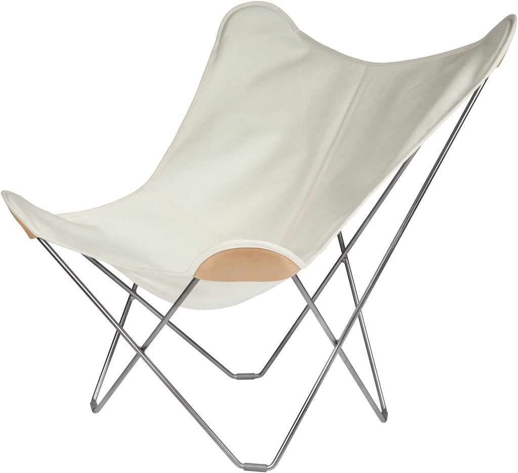 Canvas Mariposa White Chair