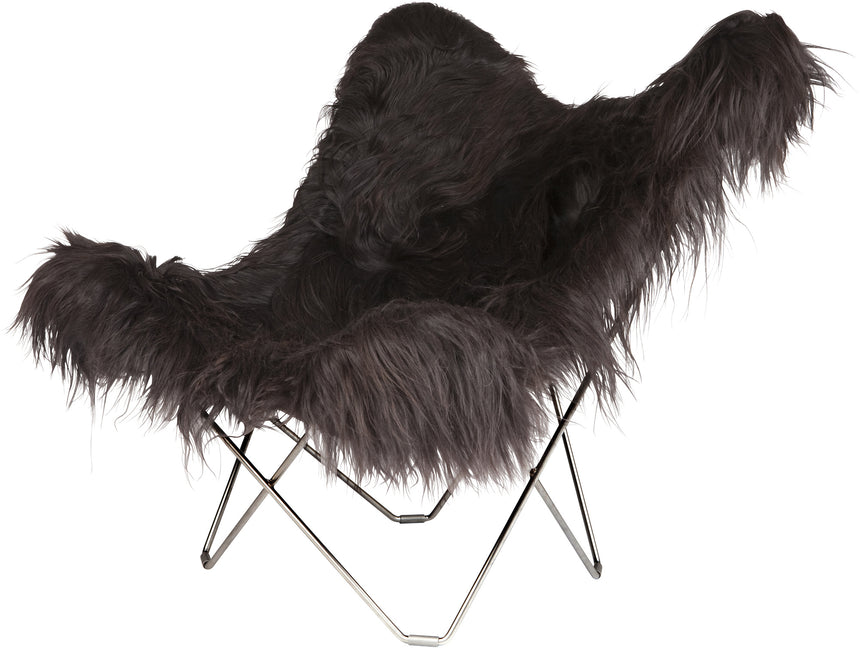 Iceland Mariposa Wild Black Chair with Chrome Frame