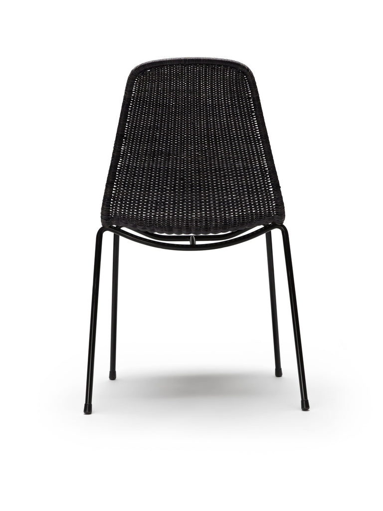 Basket chair (dark grey rattan slimit) back