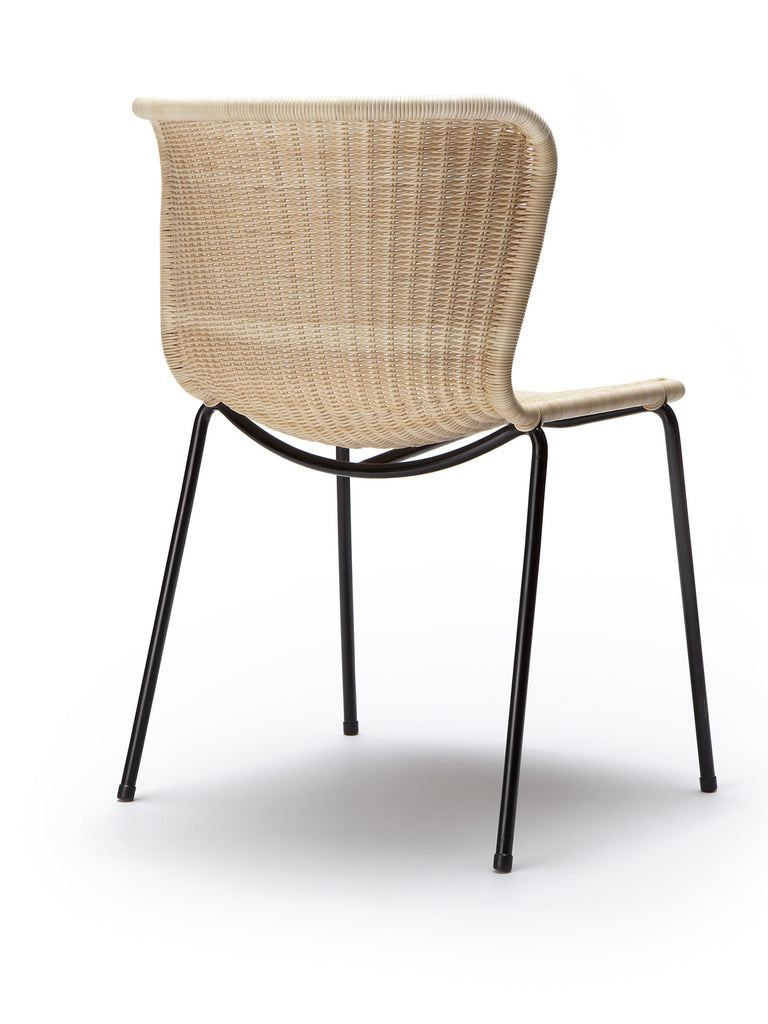 C603 chair outdoor (honey polyethylene) back angle