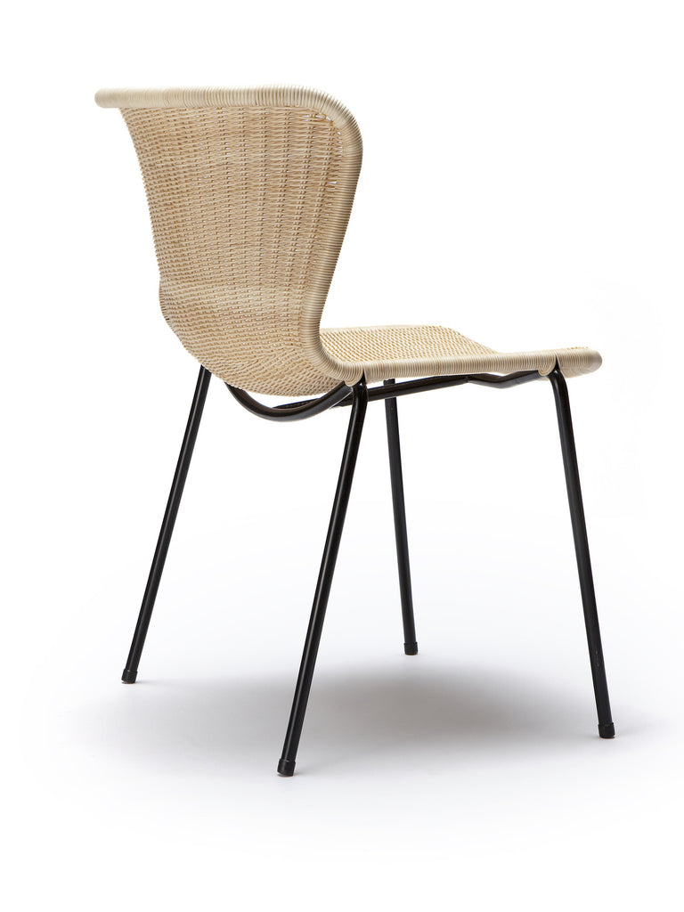 C603 chair indoor (natural rattan) back angle
