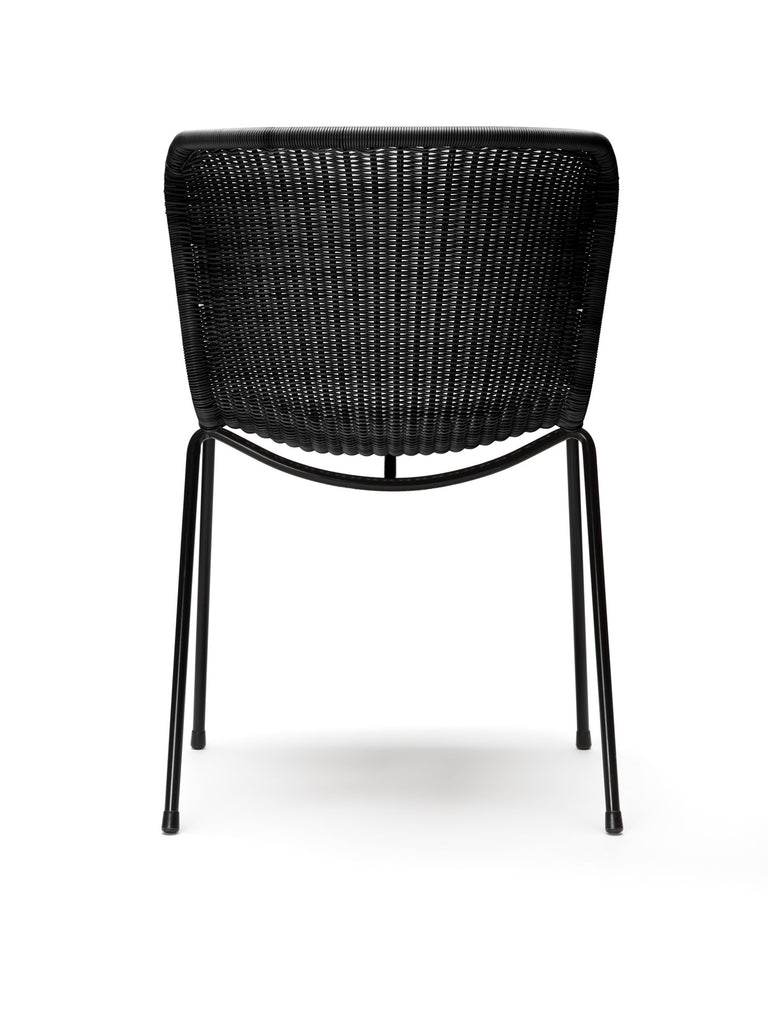 C603 chair outdoor (black) back