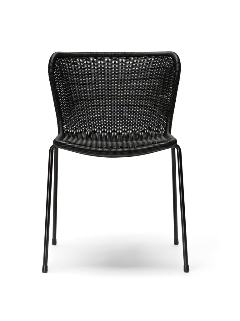 C603 chair outdoor (black) front