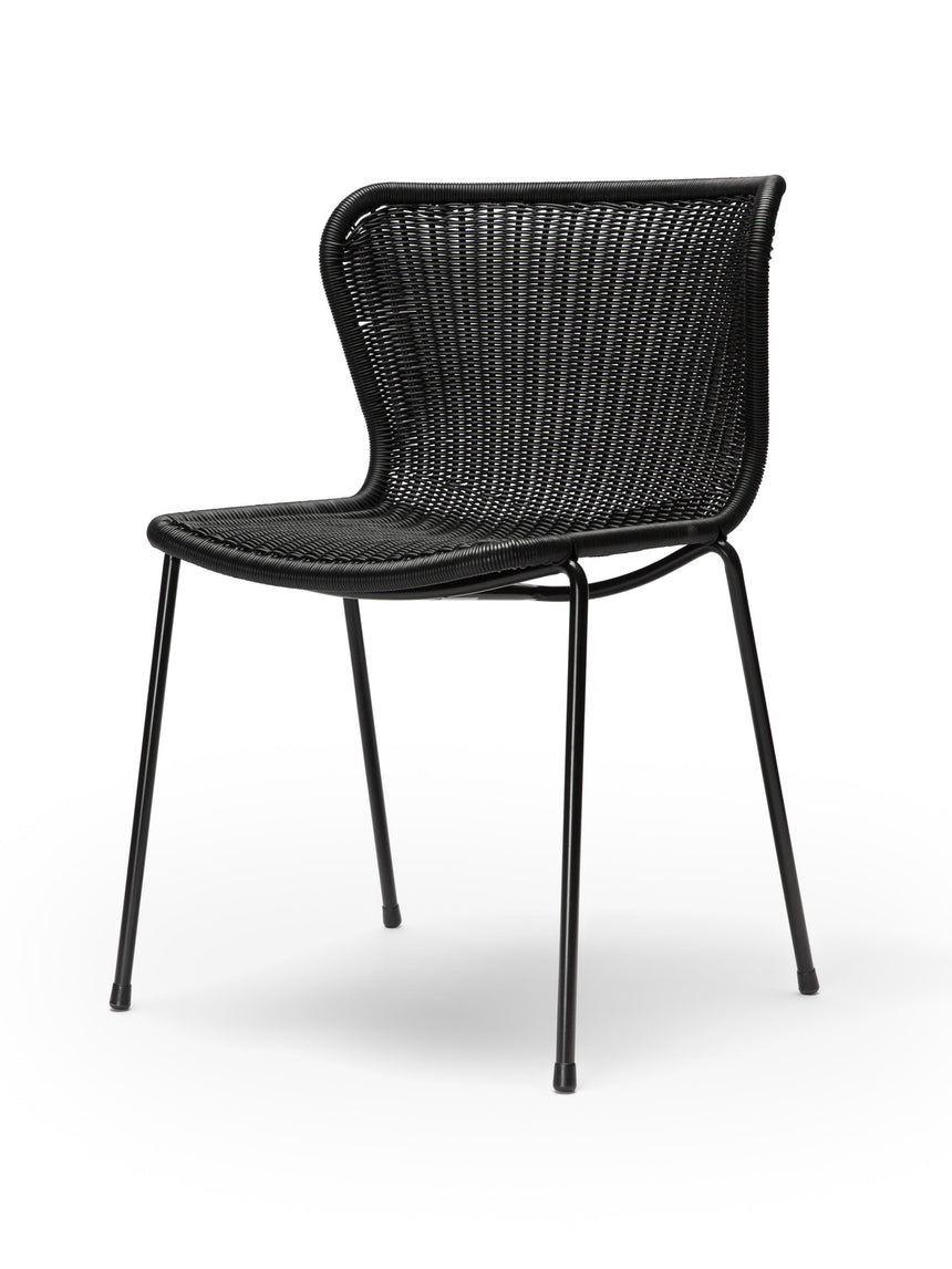 C603 chair outdoor (black) front angle