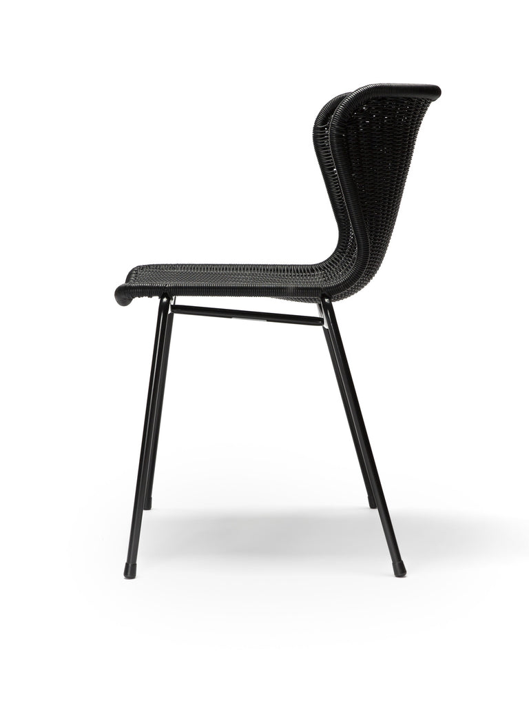 C603 chair outdoor (black) side